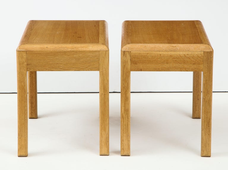 Rare Adolphe Chanaux Waxed Oak Occasional Table For Sale 3