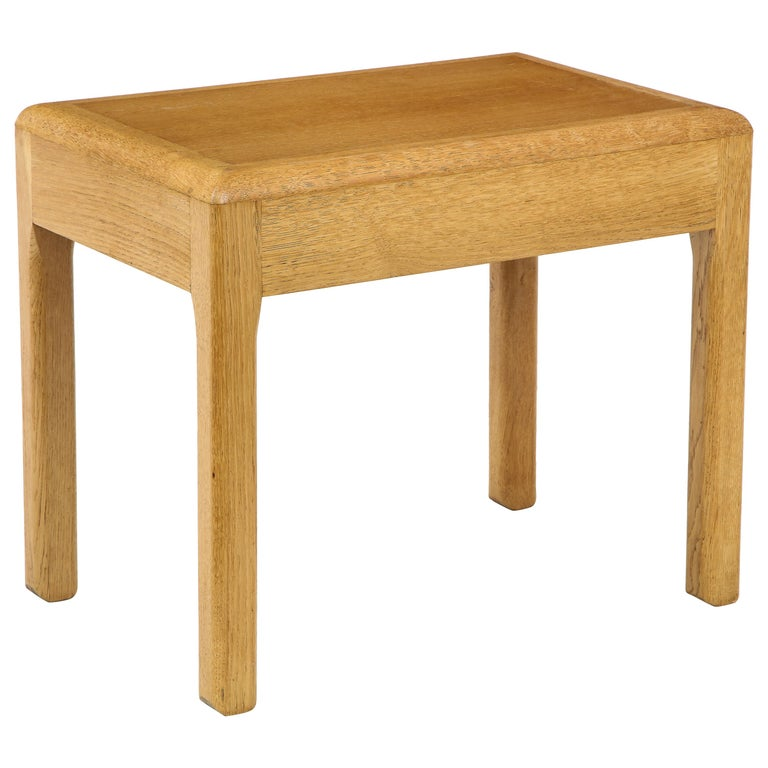 Rare Adolphe Chanaux Waxed Oak Occasional Table For Sale