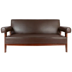 Rare Advocate Sofa by Le Corbusier and Pierre Jeanneret ''PJ-SI-42-B''