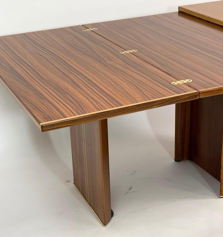 Rare Afra& Tobia Scarpa Convertible Extension Dining Table Artona Series Maxalto For Sale 3