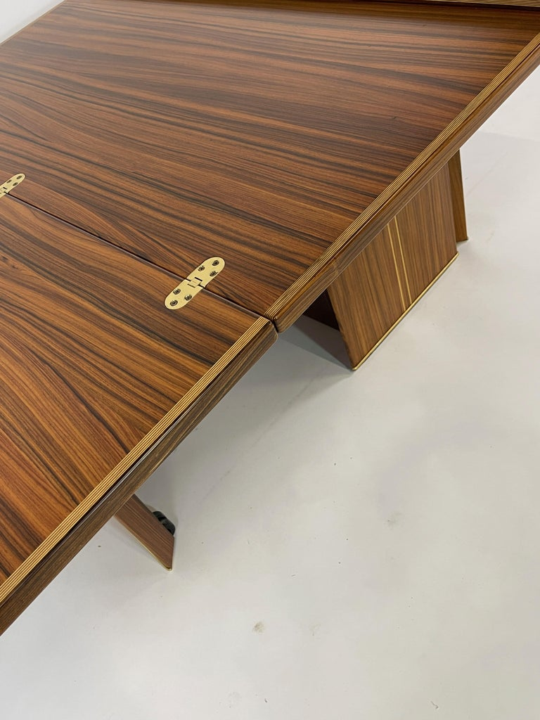 Rare Afra& Tobia Scarpa Convertible Extension Dining Table Artona Series Maxalto For Sale 4
