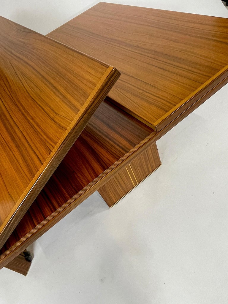 Rare Afra& Tobia Scarpa Convertible Extension Dining Table Artona Series Maxalto For Sale 7