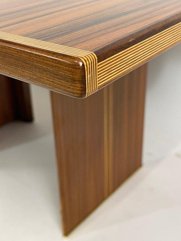 Rare Afra& Tobia Scarpa Convertible Extension Dining Table Artona Series Maxalto In Good Condition For Sale In Hudson, NY