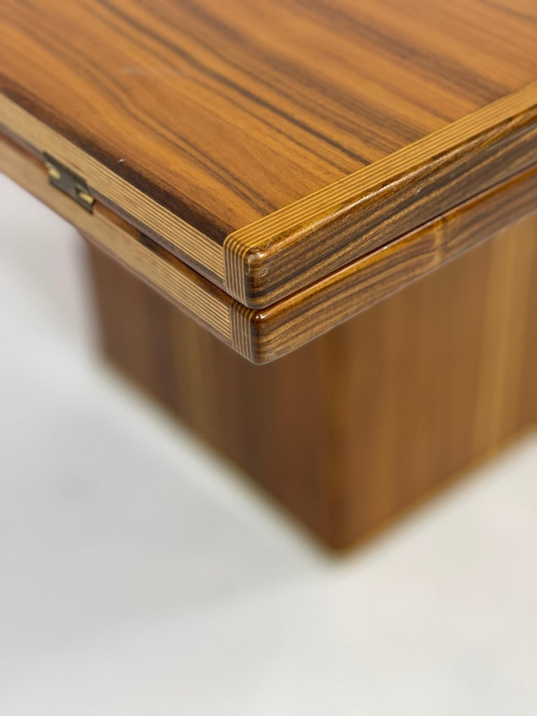 Rare Afra& Tobia Scarpa Convertible Extension Dining Table Artona Series Maxalto For Sale 1