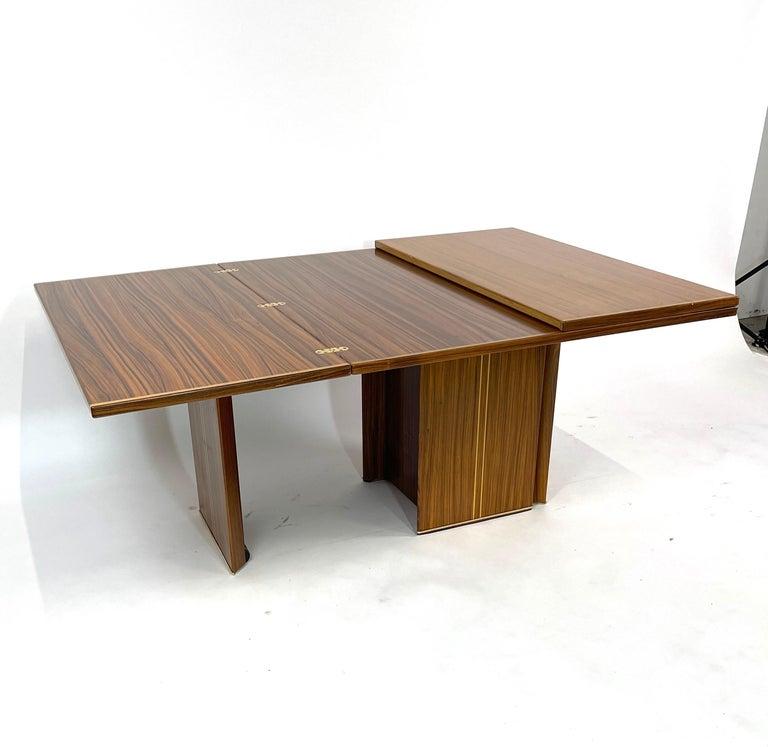 Rare Afra& Tobia Scarpa Convertible Extension Dining Table Artona Series Maxalto For Sale 2