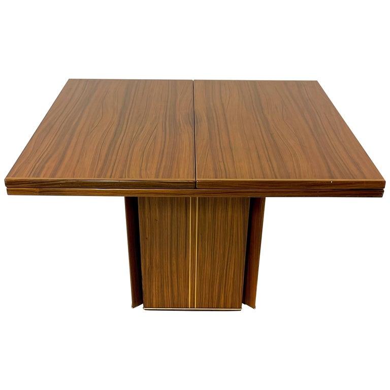 Rare Afra& Tobia Scarpa Convertible Extension Dining Table Artona Series Maxalto For Sale