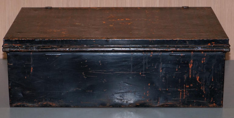 Rare African Campaign Military Metal Chest Luggage the Owomeji Jones Brothers For Sale 5