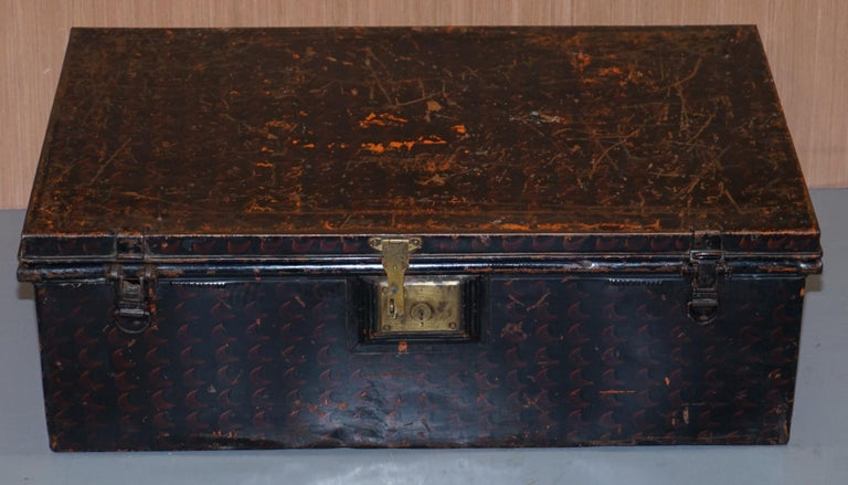 "We are delighted to offer for sale this very nice and collectable antique field used Jones Brothers & Co of Wolverhampton LTD Steel Unform case ""The Owomehi"" British Patent 202004 