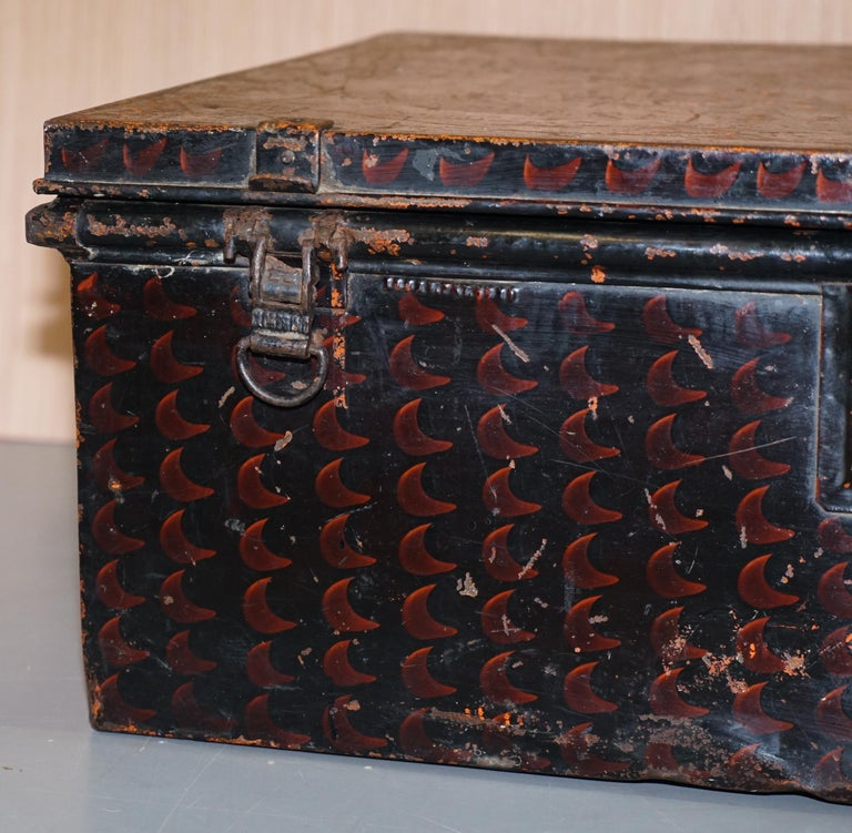 Steel Rare African Campaign Military Metal Chest Luggage the Owomeji Jones Brothers For Sale