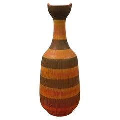 Rare Aldo Londi for Bitossi Floor Vase, Italian Ceramic