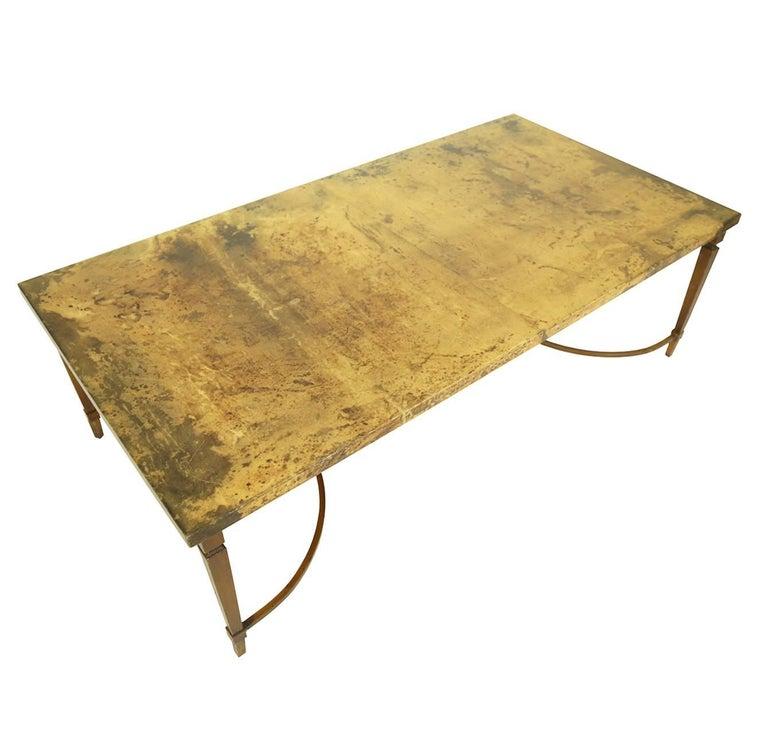 Mid-Century Modern Rare Aldo Tura Goatskin Coffee Table, circa 1960 For Sale