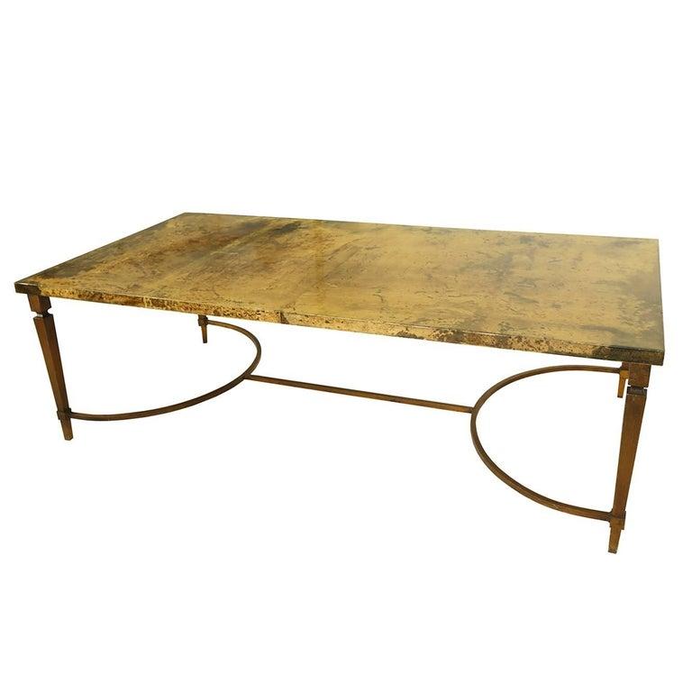 Italian Rare Aldo Tura Goatskin Coffee Table, circa 1960 For Sale