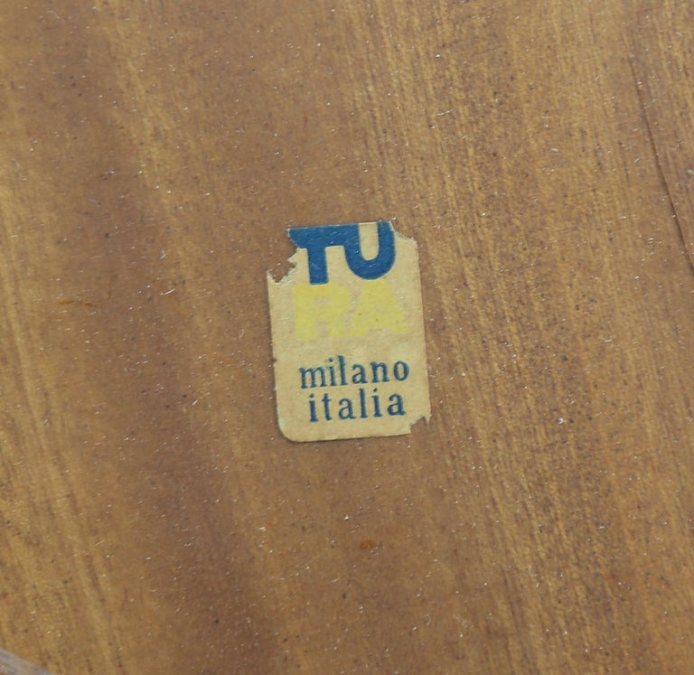 Mid-20th Century Rare Aldo Tura Goatskin Coffee Table, circa 1960 For Sale