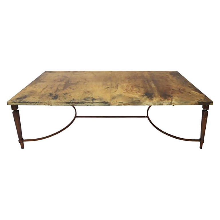 Rare Aldo Tura Goatskin Coffee Table, circa 1960 For Sale