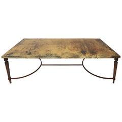 Rare Aldo Tura Goatskin Coffee Table