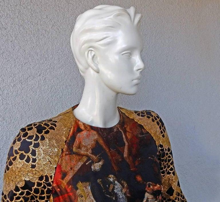 Women's Alexander McQueen Angels & Demons Collection Hieronymus Bosch Evening Dress For Sale