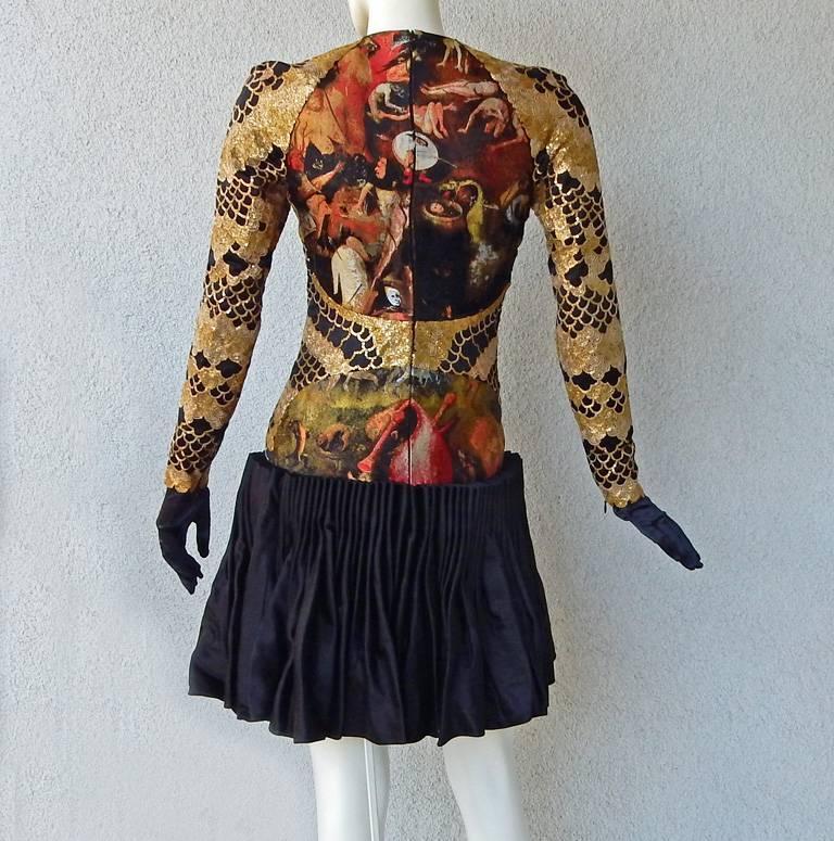 Alexander McQueen Angels & Demons Collection Hieronymus Bosch Evening Dress For Sale 3