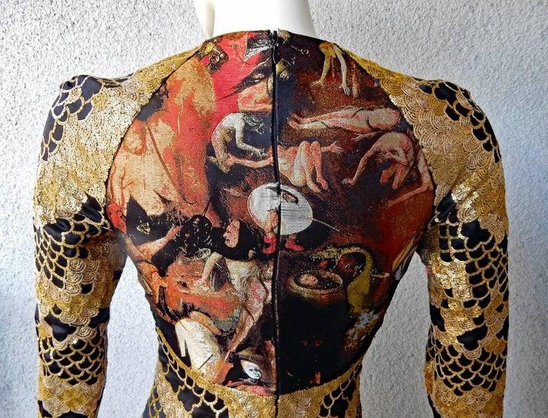 Alexander McQueen Angels & Demons Collection Hieronymus Bosch Evening Dress For Sale 4