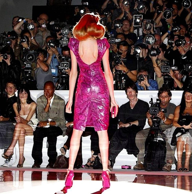 Rare Alexander McQueen Exotic Fitted Dress Tribute to Isabella Blow Spring 2008 For Sale 5