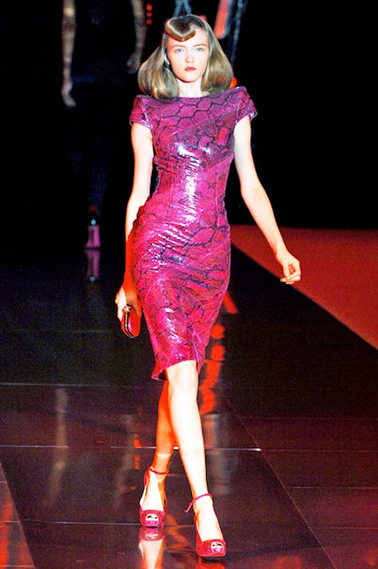 Rare Alexander McQueen Exotic Fitted Dress Tribute to Isabella Blow Spring 2008 For Sale 4