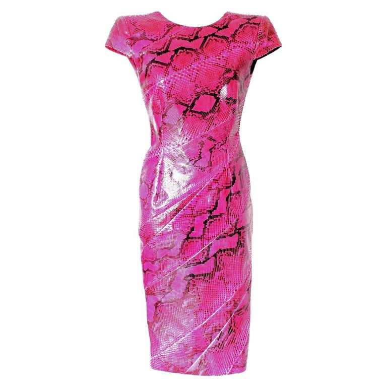 Rare Alexander McQueen Exotic Fitted Dress Tribute to Isabella Blow Spring 2008 For Sale