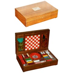 Rare Alfred Dunhill Made in Italy 1950s Games Compendium Box Poker Cards Chess