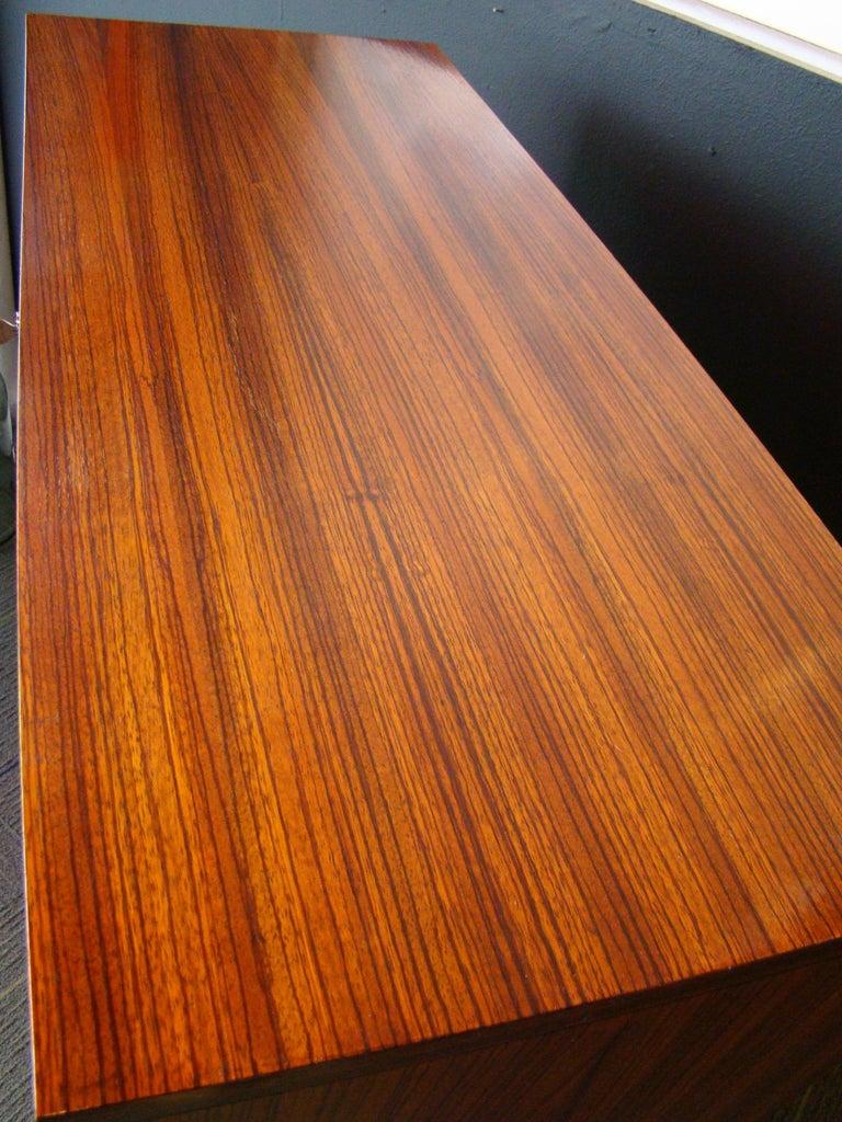 Rare Alfred Hendrickx 'Belgium' Rosewood Drop Front Secretary Desk by Belform For Sale 3