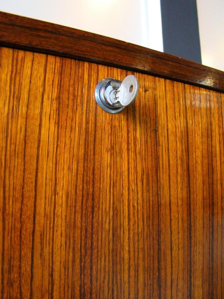 Mid-Century Modern Rare Alfred Hendrickx 'Belgium' Rosewood Drop Front Secretary Desk by Belform For Sale