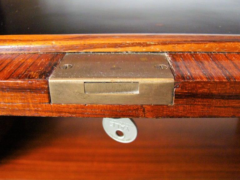 Belgian Rare Alfred Hendrickx 'Belgium' Rosewood Drop Front Secretary Desk by Belform For Sale