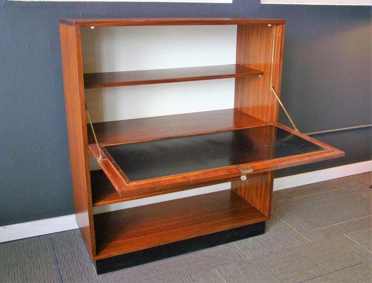 20th Century Rare Alfred Hendrickx 'Belgium' Rosewood Drop Front Secretary Desk by Belform For Sale