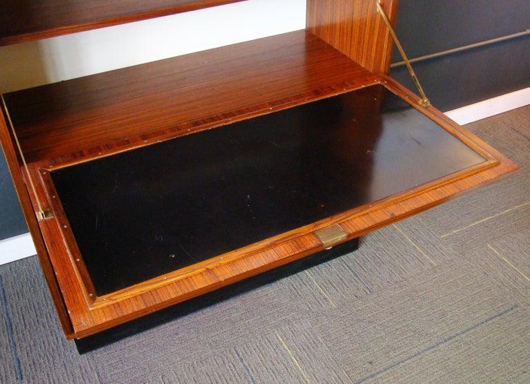 Jacaranda Rare Alfred Hendrickx 'Belgium' Rosewood Drop Front Secretary Desk by Belform For Sale