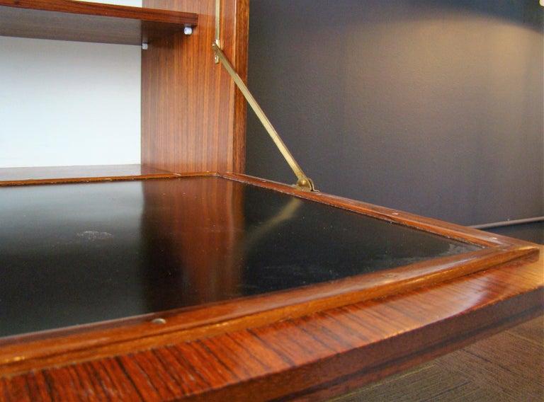 Rare Alfred Hendrickx 'Belgium' Rosewood Drop Front Secretary Desk by Belform For Sale 1