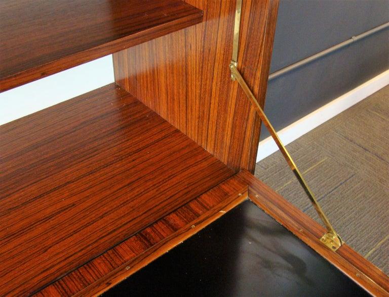 Rare Alfred Hendrickx 'Belgium' Rosewood Drop Front Secretary Desk by Belform For Sale 2