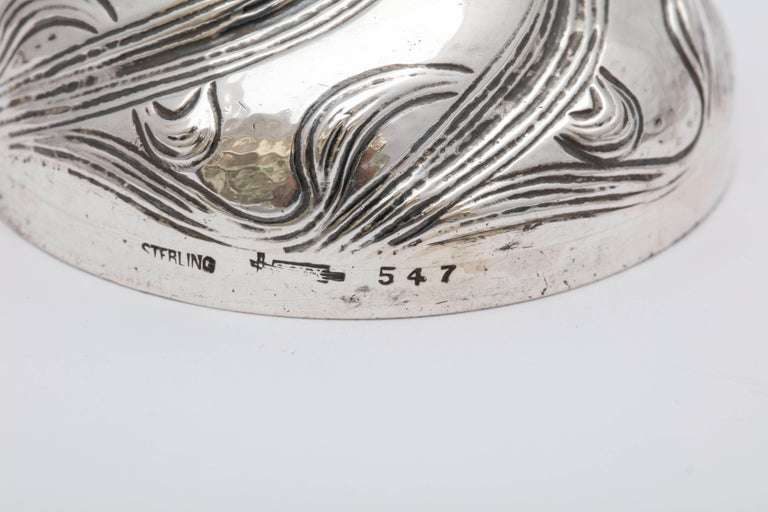 Rare All Sterling Silver Art Nouveau Bell For Sale 3