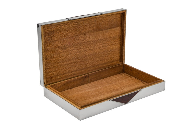 Modern Rare Alligator and Shagreen Belt Strap Box For Sale