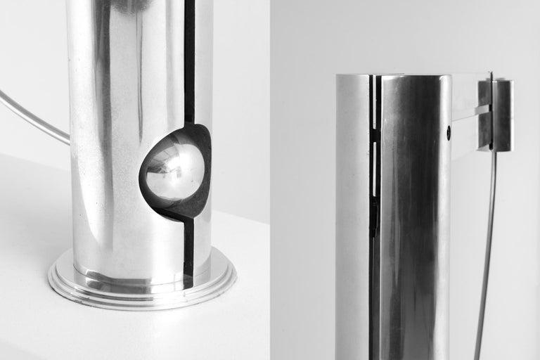 Rare Aluminum Pendulum Lamp by Pierre Lallemand For Sale 5