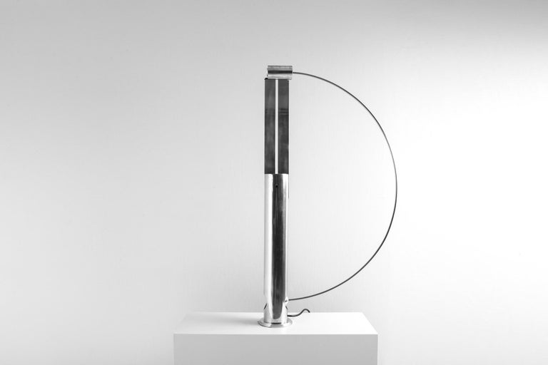 Rare Aluminum Pendulum Lamp by Pierre Lallemand In Good Condition For Sale In Antwerp, BE