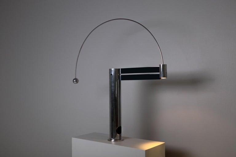 20th Century Rare Aluminum Pendulum Lamp by Pierre Lallemand For Sale