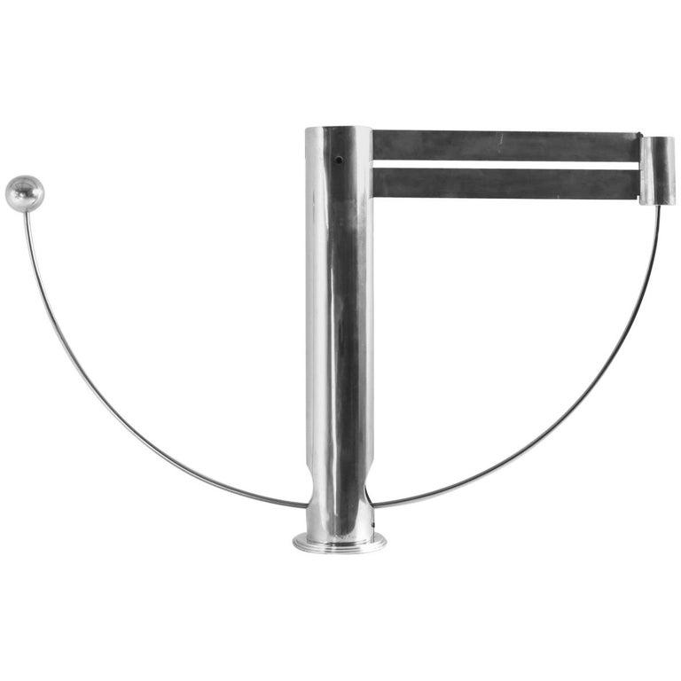 Rare Aluminum Pendulum Lamp by Pierre Lallemand For Sale