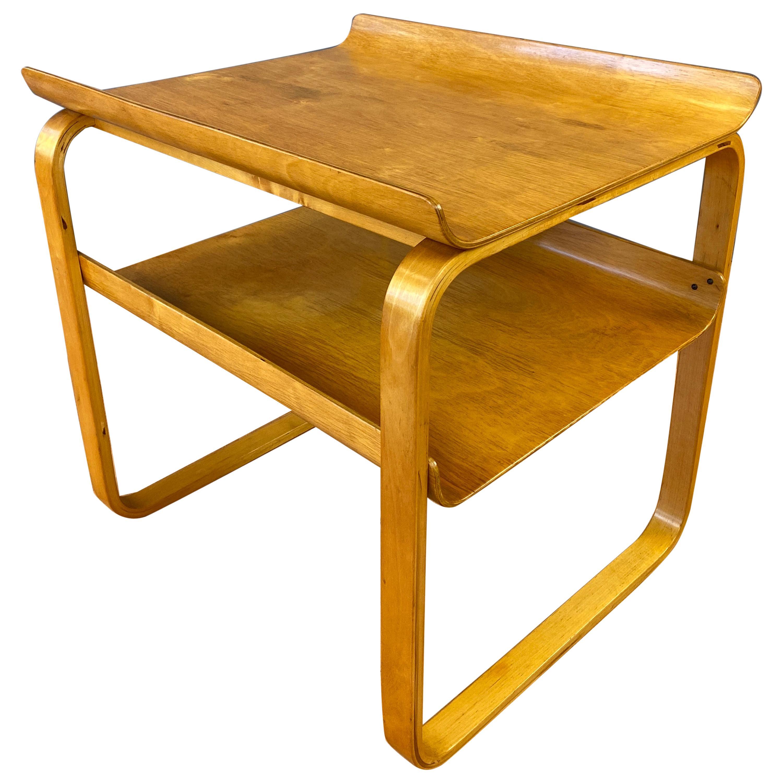 Rare Alvar Aalto 75 Side Table for the Sanatorium, Paimio, Finland