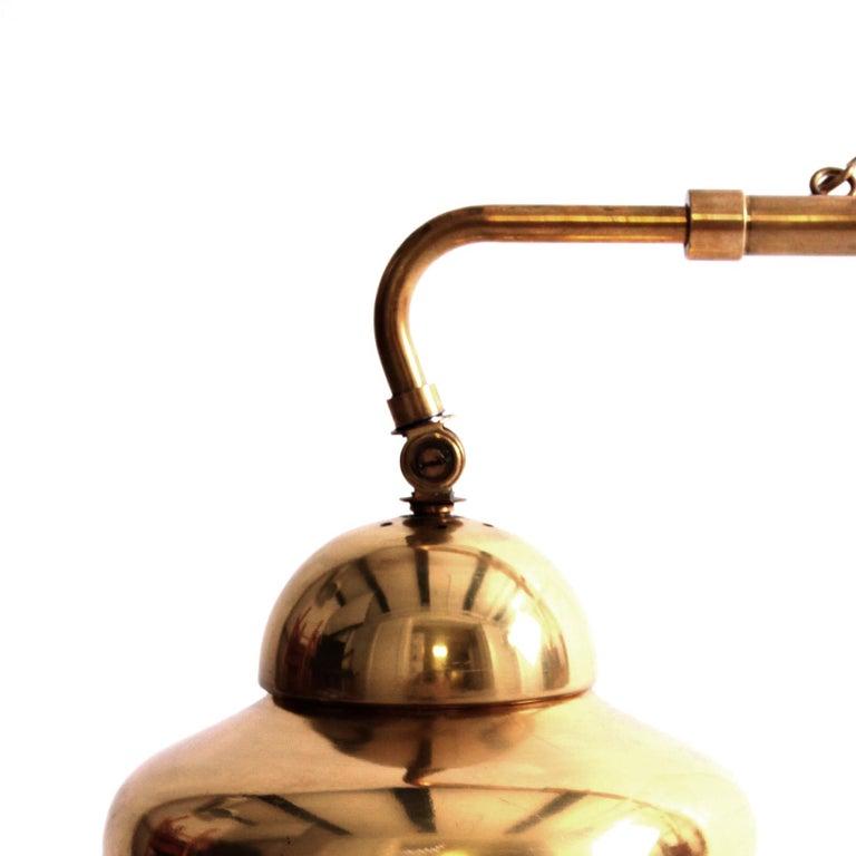 Finnish Rare Alvar Aalto Adjustable Wall Lamp in Brass  For Sale