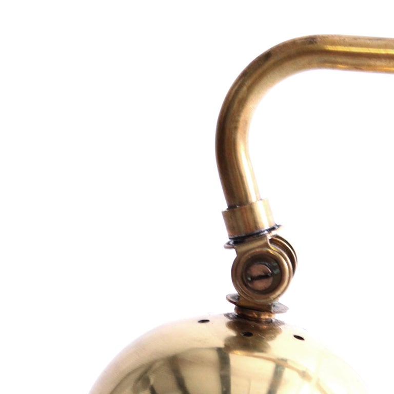 Polished Rare Alvar Aalto Adjustable Wall Lamp in Brass  For Sale