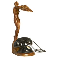 Rare American Art Deco Nude Figural Lamp/Telephone Stand by McClelland Barclay