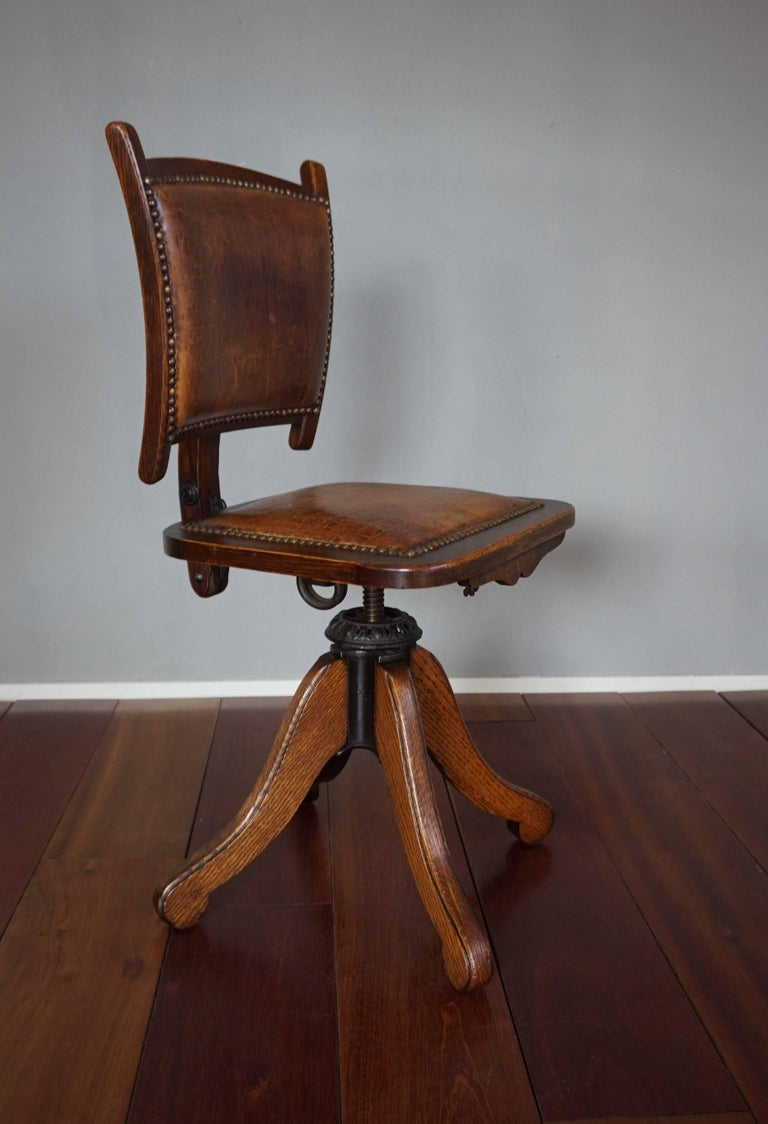 Rare American Arts & Crafts Desk or Drafting Chair by The Davis Chair Company 10