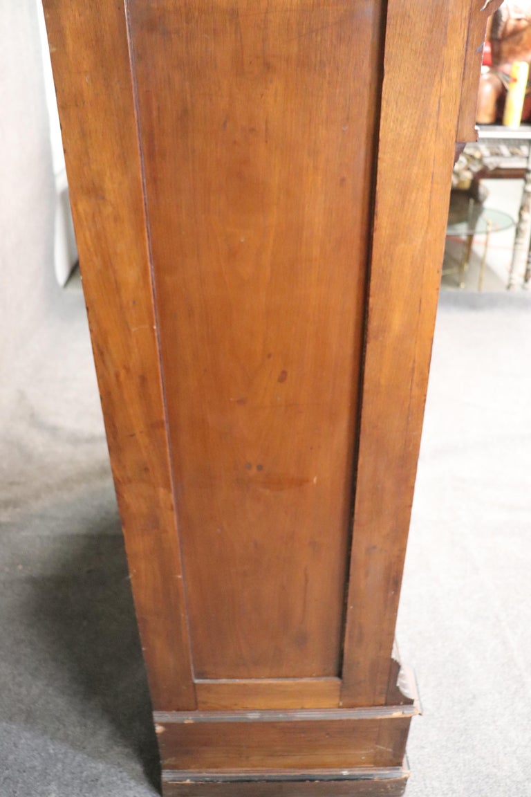 Rare American Victorian Renaissance Revival Burled Walnut Vitrine Bookcase C1870 For Sale 7
