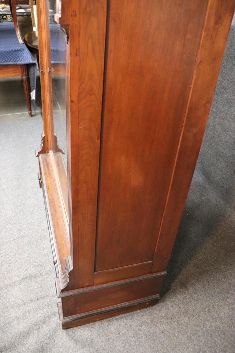 Rare American Victorian Renaissance Revival Burled Walnut Vitrine Bookcase C1870 For Sale 5