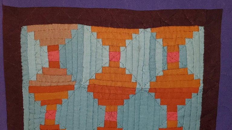 Adirondack Rare Amish Wool Doll Quilt from Pennsylvania