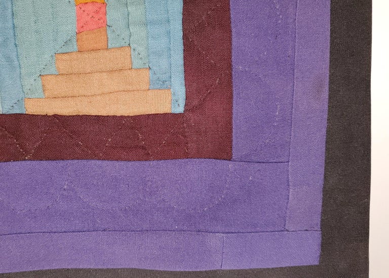 American Rare Amish Wool Doll Quilt from Pennsylvania