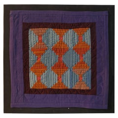 Rare Amish Wool Doll Quilt from Pennsylvania