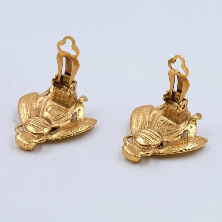 Rare and collectible Christian Dior Bee Earrings For Sale 1